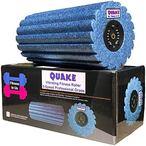 Quake 5 Speed Vibrating Foam Roller Deep Tissue Massager, Trigger Point, Sports Therapy and Muscle Recovery
