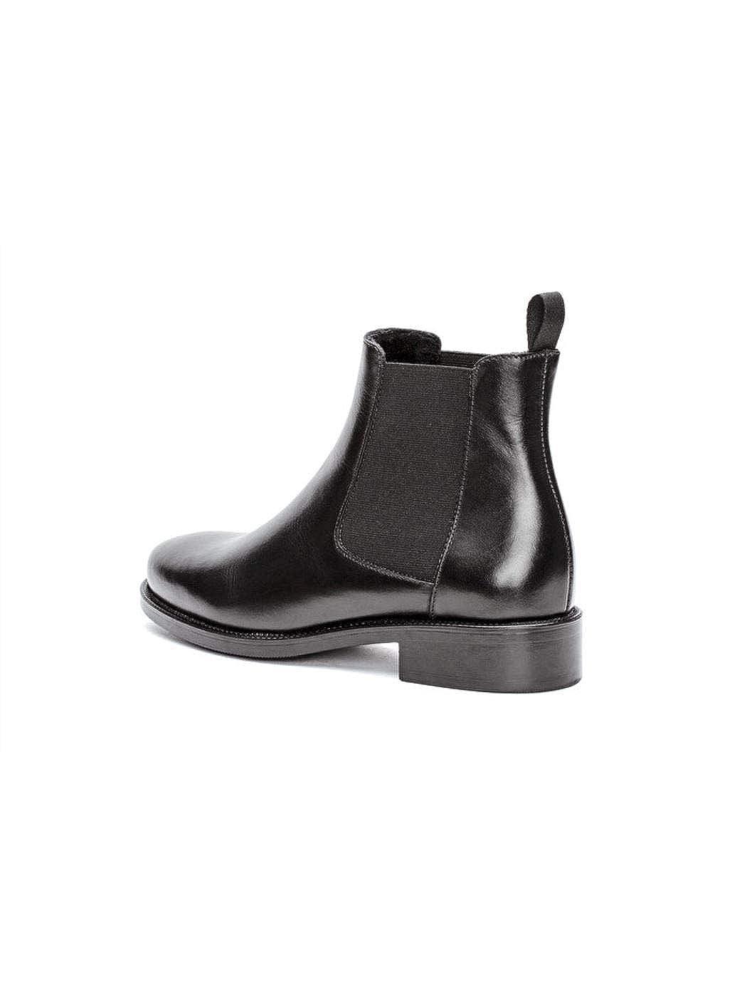 Frau 98M3 Schwarze Schuhe Ankle Stiefel Stiefeletten Beatles Beatles Beatles Leder bece7a