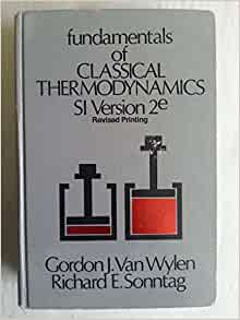 fundamentals of classical thermodynamics van wylen pdf free download
