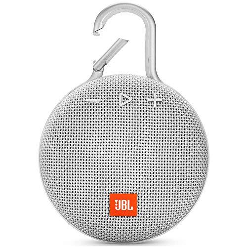 JBL Clip 3 Waterproof Portable Bluetooth Speaker - White