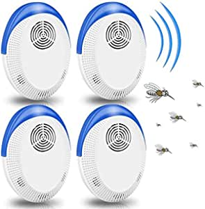 Innoo Tech Mosquito Repellent, Ultrasonic Pest Repeller, Electronic Indoor Pest Insects Repellent Plug in for Indoor Pest Control Like Living Room, Garage, Office, Hotel (4 Packs)
