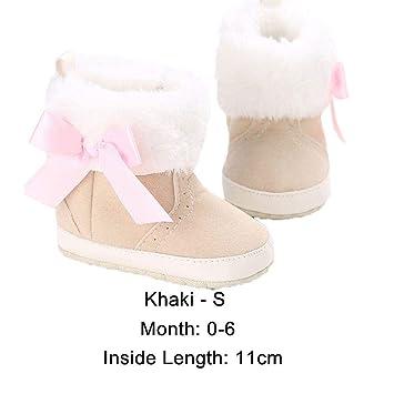 5018cc48f6c01 Amazon.com  Floweryua Princess Newborn Bebe Toddler Baby Shoes Warm ...