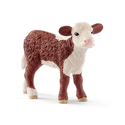 Schleich Hereford Calf Toy Figurine
