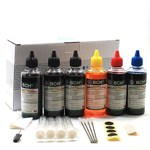 BCH KD600X-CU Standard 600 ml 4-color Universal Refill Ink - all Inkjet Printers H- CAN EPSN LEX (Pigment Ink Refill Bottles)