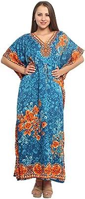Ladies Blue Beach Top Kaftan