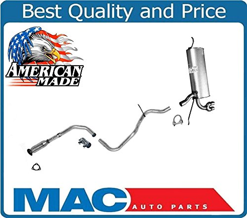 Muffler Exhaust Pipe System MADE IN USA for Pontiac Grand Am 2.2L 2.4L 3.4 99-05