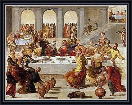 Wedding Feast At Cana.Amazon Com Tintoretto The Wedding Feast At Cana C 1545 Canvas