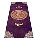 Heathyoga Yoga Towel, Exclusive Corner Pockets Design + Free Spray Bottle, 100% Microfiber Yoga Mat Towel for Hot Yoga, Pilates and Fitness