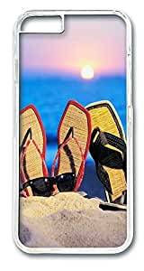ACESR Beach Sandals Hipster iPhone Case PC Hard Case Back Cover for Apple iPhone 6 4.7inch