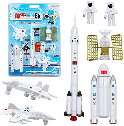 XuBa 7 Stück Simulieren Space Rakete Modeling Figuren