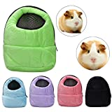 Owill Hamster Rat Hedgehog Chinchilla Ferret Carrier Packet Bag Sleeping Hanging Bag for Small Size Pet (Black)