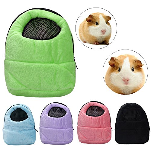 Owill Hamster Rat Hedgehog Chinchilla Ferret Carrier Packet Bag Sleeping Hanging Bag for Small Size Pet (Purple)