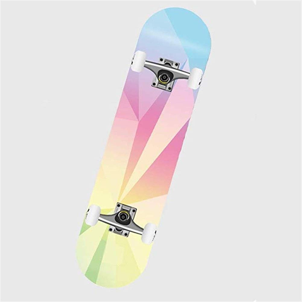 DESTRB Trend Skateboard Children Beginners Youth Child Female Paddle Board 4 Toys Double Squat pad Four Wheel Skateboard 4 Round (Color : 2) by DESTRB