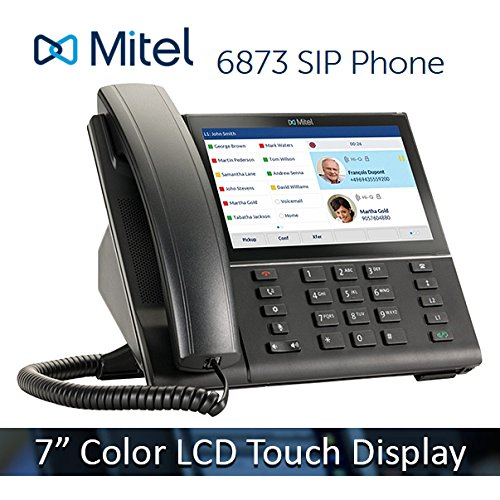 Mitel 6873 6873i VoIP 7'' Color LCD Touchscreen Display HD Audio SIP Office IP Softphone Phone 50006790 by Mitel Networks Corporation