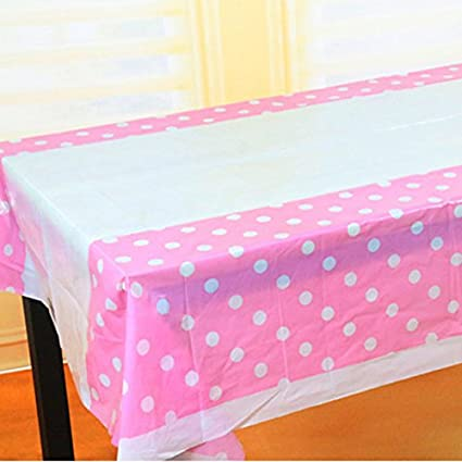 Polka Dot Table Cloth / Party Table Cover / Party Supplies  Theme Birthday Party  Kids Party Supplies  Table Covers  Table Cloth (Pink) Amazon.in ... & Polka Dot Table Cloth / Party Table Cover / Party Supplies  Theme ...