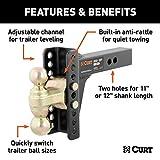 CURT 45900 Adjustable Trailer Hitch Ball