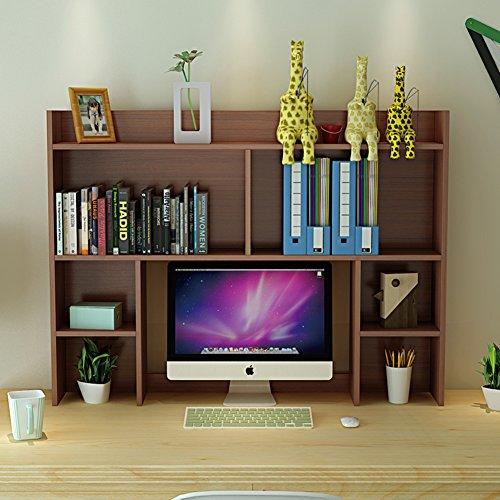 JX&BOOS Desktop bookshelf,Rack simple office computer rack dormitory desktop bookshelf storage rack modern simple student-L (National Office Furniture L-desk)