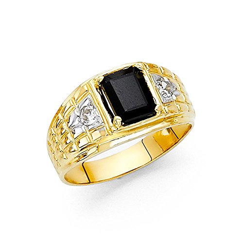 14K Solid Yellow Gold Thick Bl