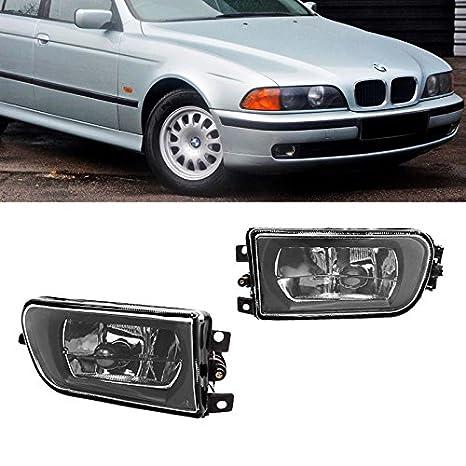 Directo Fit lámpara de luces antiniebla BMW E39 5-Series 97 - 00 cristal transparente lente 528i 540i Z3: Amazon.es: Coche y moto