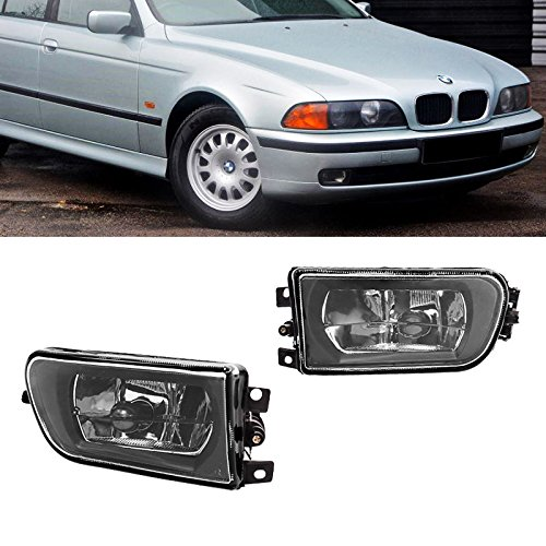 (Direct Fit Fog Lights Lamp BMW E39 5-Series 97-00 Clear Glass Lens 528i 540i Z3)
