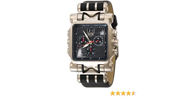 Amazon.com: Oakley Mens 10-191 Minute Machine Leather Strap Edition Titanium Chronograph Watch: Watches