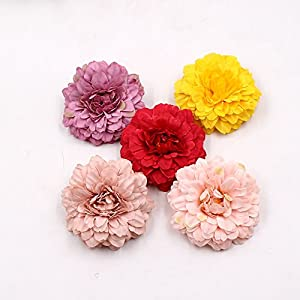 Marigold Flowers Artificial Garland Flower Heads in Bulk Wholesale for Crafts Artificial Silk Fake Flowers Wedding Party Decorative DIY Hat Ornament Simulation Home Decor Decorative 10pcs 27