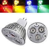Lights & Lighting - Mr16 3w Dc 12v 3 Leds Red/Yellow/Blue/Green Led Spot Light Bulbs - Spot Bulbs - 1PCs
