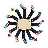 Daring Dozen Men's Socks (Large (USA 4.5-9), Daring Dozen)