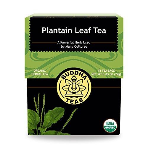 - Organic Plantain Leaf Tea - Kosher, Caffeine-Free, GMO-Free - 18 Bleach-Free Tea Bags