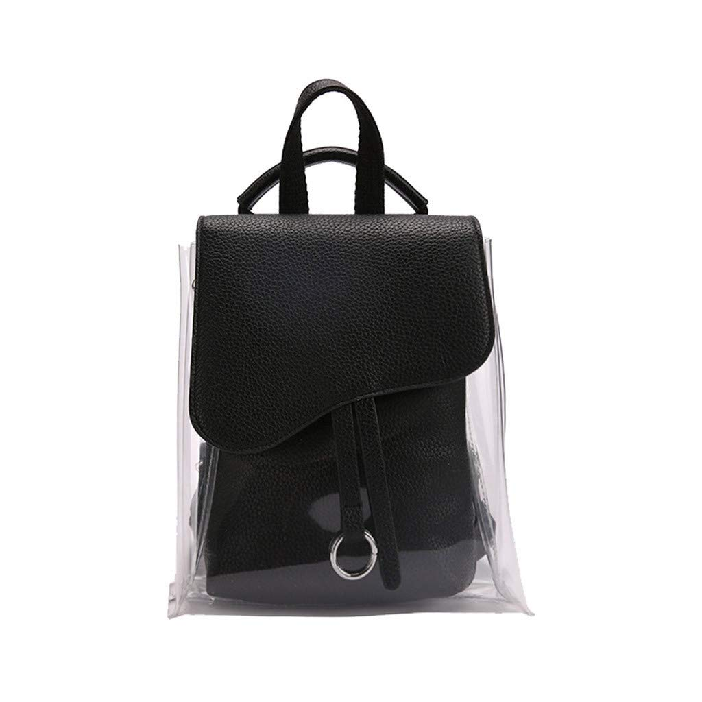 Woman Backpack,Fashion Beach Bag Women Messenger Cute Waterproof Backpack,Vintage,Backpacks, Black