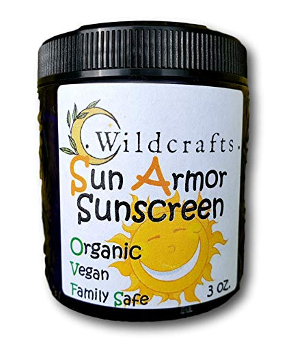 Armor Sunscreen - Sun Armor Organic Sunscreen for Face and Body Vegan and Kid Friendly Sun Protection with Raspberry Seed Oil