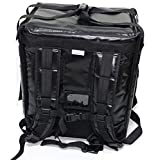 PK-65Abl: Insulated Pizza Delivery Backpack Bag, Top Load + Side Load. 16' L x 12' W x 18' H, Thermal Food Delivery Box/Cabinet for Catering, Restaurant, Delivery Drivers, 65Liters (Black)