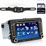 """Fit VW VolksWagen Passat/T5/Skoda Indash Car DVD Player Stereo Audio With GPS Sat Nav Navigation + 7.0"""" HD Touch screen /3G WIFI/ PIP/ RDS/CAN-BUS/ Bluetooth/iPod iPhone Control + Analog TV tuner (4G Td card with 3D navi map)+Reversing Camera for Parking"""