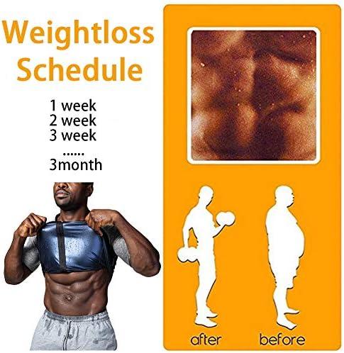 ALING Men's Weight Loss Shirt Top Training Body Shaper Clothes Sweat Sauna Suit Zipper Short Sleeve