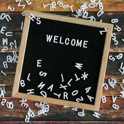 Buchstab Letterboard Aus Holz Und Filz Buchstaben Tafel Buchstabenbrett Rillentafel Stecktafel Mit 290 Buchstaben Und Zahlen ALS Dekorative Buchstabent LOVNE Felt Letter Board Holz Und Filz