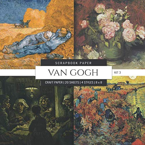 Van Gogh Scrapbook Paper Kit 3: 8x8 Decorative Craft Paper, Designer Specialty Paper for Scrapbooking, Roses, Floral, Scenic Landscape, Vintage Themed Background Papers (Multi-Purpose Paper) (Florals Scrapbooking)
