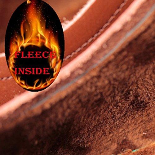 lacci 38 classica stringate Resistente Fleece da eleganti amp;Baby uomo all'abrasione Colore Scarpe EU con da Brown sintetica Dimensione Inside Sunny pelle in uomo Nero qwHPxzE6