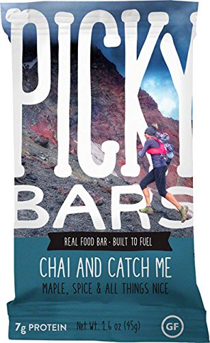 Picky Bars Real Food Energy Bars Chai and Catch Me, 10ct Carton