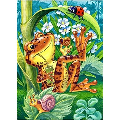 - Barlingrock 5D DIY Diamond Painting Kits for Kids,Happy Frog&Cartoon Animal Full Drill Diamond Dotz by Number Kits Embroidery Paintings Pictures Arts Craft for Home Living Room Wall Decor 30X40cm