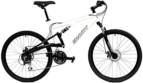 Best savings for 2017 Gravity FSX 1.0 Dual Full Suspension Mountain Bike with Disc Brakes, Shimano Shifting (White, 17in)