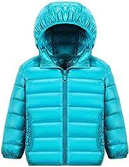 KINDOYO Boy's Girls Unisex Kids Warm Winter Down Jacket Outerwear Hooded