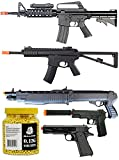 A&N Airsoft Gun Bundle - Collection of Airsoft Guns- Powerfull Airsoft Sping Rifles, Airsoft Spring Shotgun, 2 x Airsoft Spring Pistols and 5000 Bulldog BB Pellets Great Value Airsoft Starter Pack