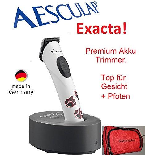 Rotschopf24 Edition: Aesculap EXACTA Tiertrimmer / Schermaschine, kabellos (Akkubetrieb), mit Tasche. 43528 Samebaer