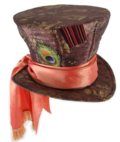 Peacock Costume Mens (Alice in Wonderland Mad Hatter Hat, Disney(Large))