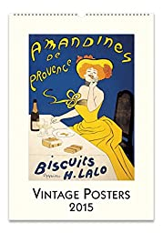 Cavallini Papers 2015 Vintage Posters Wall Calendar