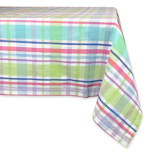 (DII 100% Cotton, Machine Washable, Easter,  Dinner, Summer & Picnic Tablecloth, 60 x 84