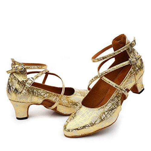 Para Danza De Zapatillas Dorado Mujer Misu wqY6agxY