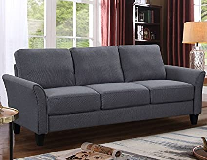 Harper&Bright Designs Sectional Sofa Set 3-Seat Sofa and Loveseat Chair  with Single Chair Grey (3-Seat Sofa)