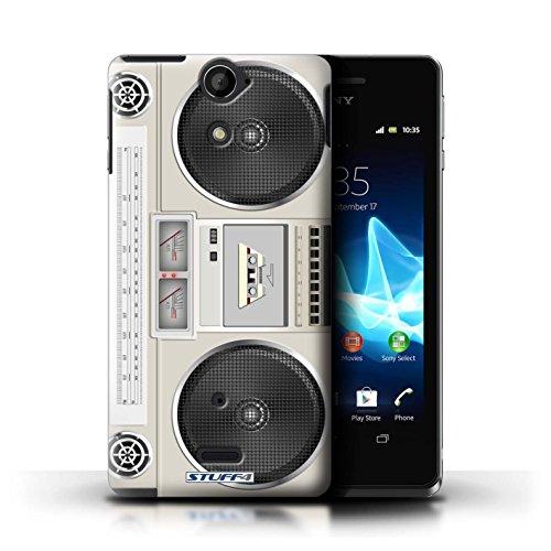 Kobalt® Imprimé Etui / Coque pour Sony Xperia V/LT25i / Boombox conception / Série Retro Tech