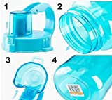 229ffdd87a70 Galleon - 1L Sports Water Bottles,Lonni 35oz Portable Wide Mouth Big ...